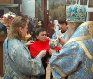 Божественная литургия в Христо-Рождественском соборе Павлодара
