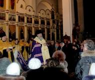 Епископ Павлодарский и Экибастузский Варнава возглавил новогодний молебен в Благовещенском кафедральном соборе Павлодара